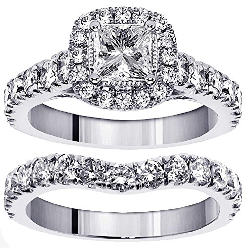 Set Diamond Bridal Eternity Band - 5