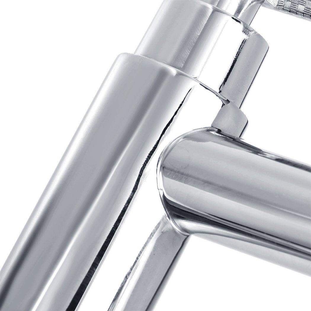 Homdox Spültisch Einhebelmischer Waschbecken Küchenarmatur Mischbatterie Silber