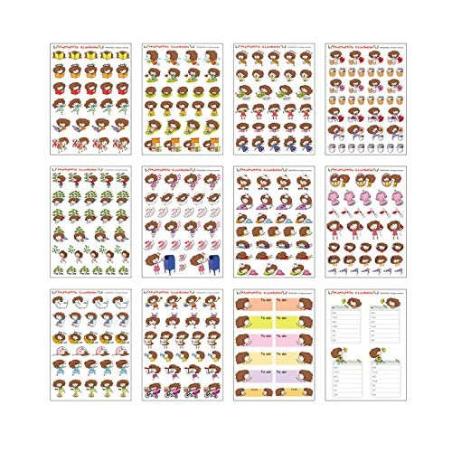 Top Atti 01 planner sticker - 12 Sheets Size 4 X 5.5 Inch hot sale