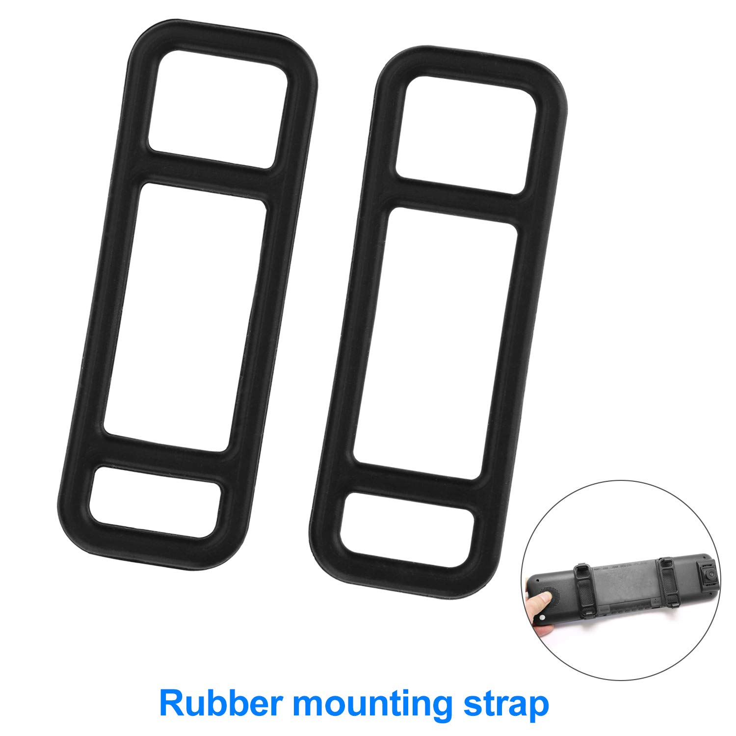 jinyue 2 Pack Mirror Dash Cam Rubber Mounting Strap- Fit for TOGUARD Official HD YI CHICOM Jeemak isYoung and Most Other Mirror Dash Cam