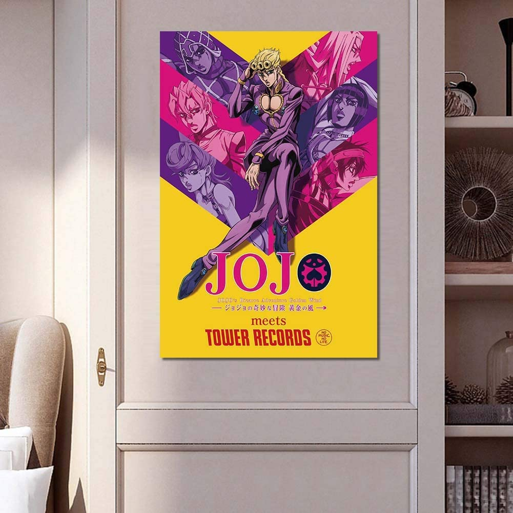 Golden Wind Poster Malerei Die Seide Kunstdruck als Wandbild Raum Dekoration Wall Painting 60 40cm SGOT Anime JoJos Bizarre Adventure