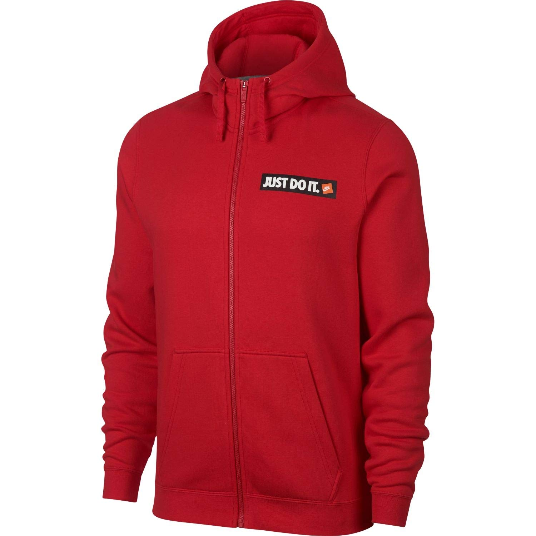 Nike Mens HBR JDI Fleece Full Zip Hoodie University Red 928703-657 Size X-Large