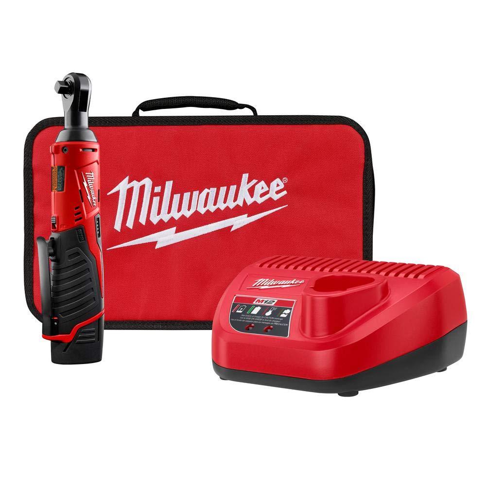 Milwaukee 2457-21p M12 Cordless 3/8'' Lithium-ion Ratchet Kit