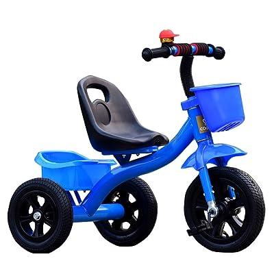 JIA JIA HOME-Bicyclette pour enfants Tricycle bébé chariot vélo enfant jouet voiture roue gonflable / mousse roue vélo adapté pour 1-2-3-4 ans (garçon / fille), rouge Kid Toy