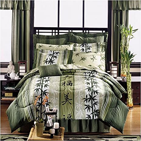 Asian Bedding, Bath U0026 Décor   Japanese Design Haiku Complete Bed In A Bag  Set
