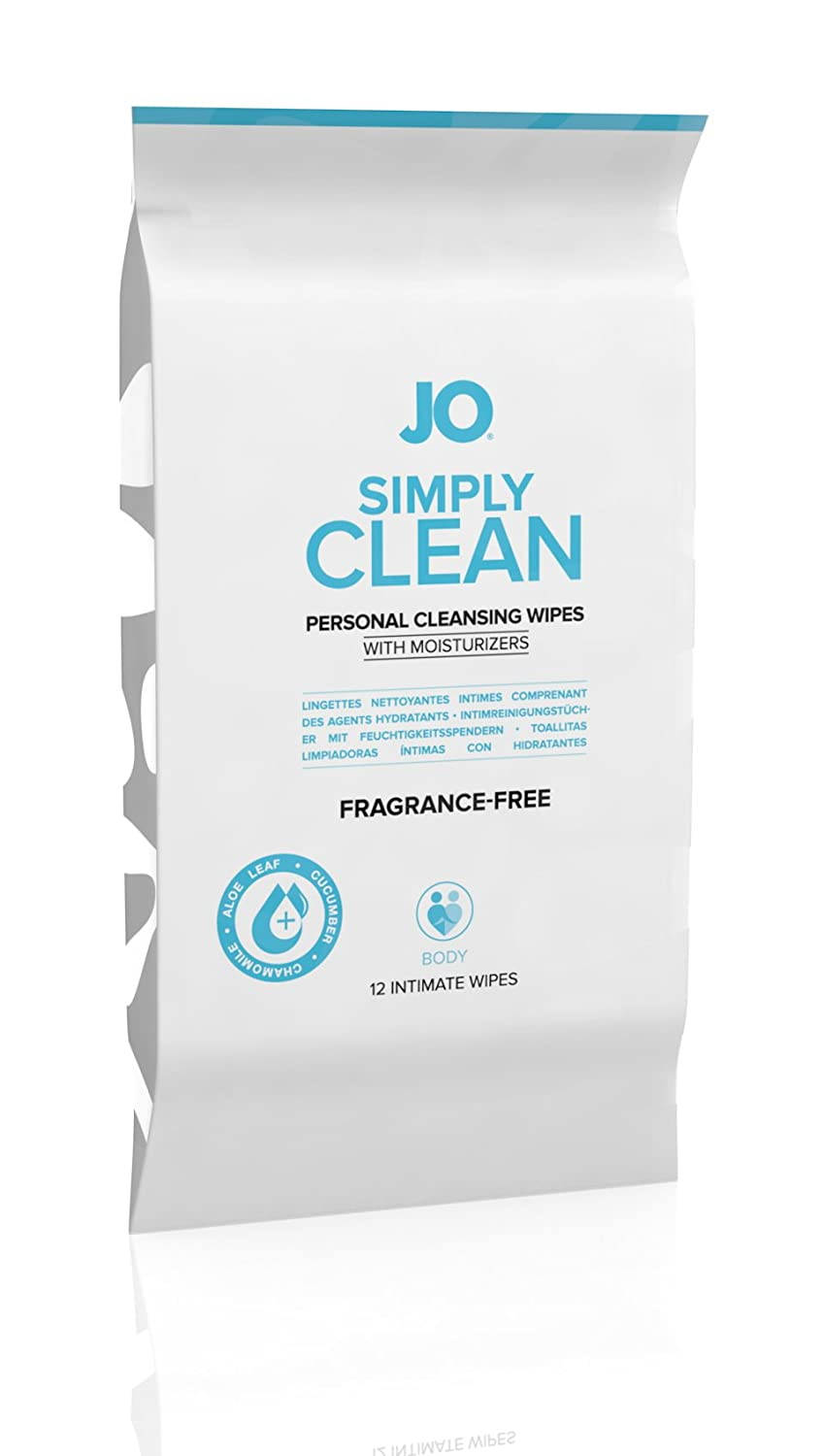 Amazon.com: System JO Personal Cleansing Wipes, Extra Clean, 12 Count: Health & Personal Care