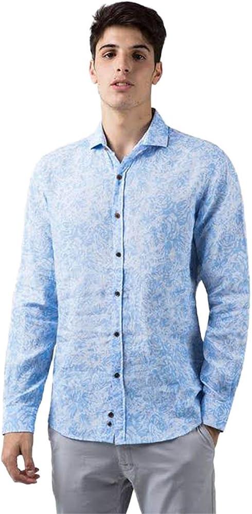 Do Rego y Novoa Camisa Hombre Flores Grandes Azul S: Amazon.es: Ropa y accesorios