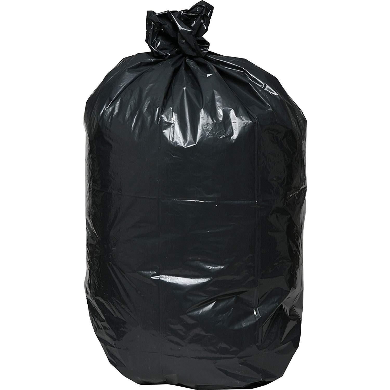 Genuine Joe GJO01533 Heavy Duty Low-Density Puncture Resistant Trash Bag, 33 Gallon Capacity, 1.50 mil Thickness, Black (Box of 100) (CASE of 400)