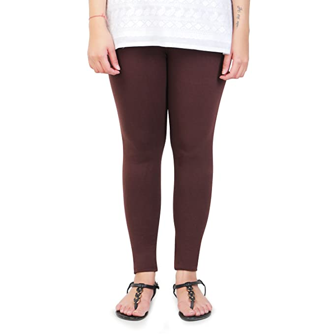 0ee4cc2ad2e08 Vami Cotton Ankle Leggings in Dark Chocolate Colour: Amazon.in: Clothing &  Accessories