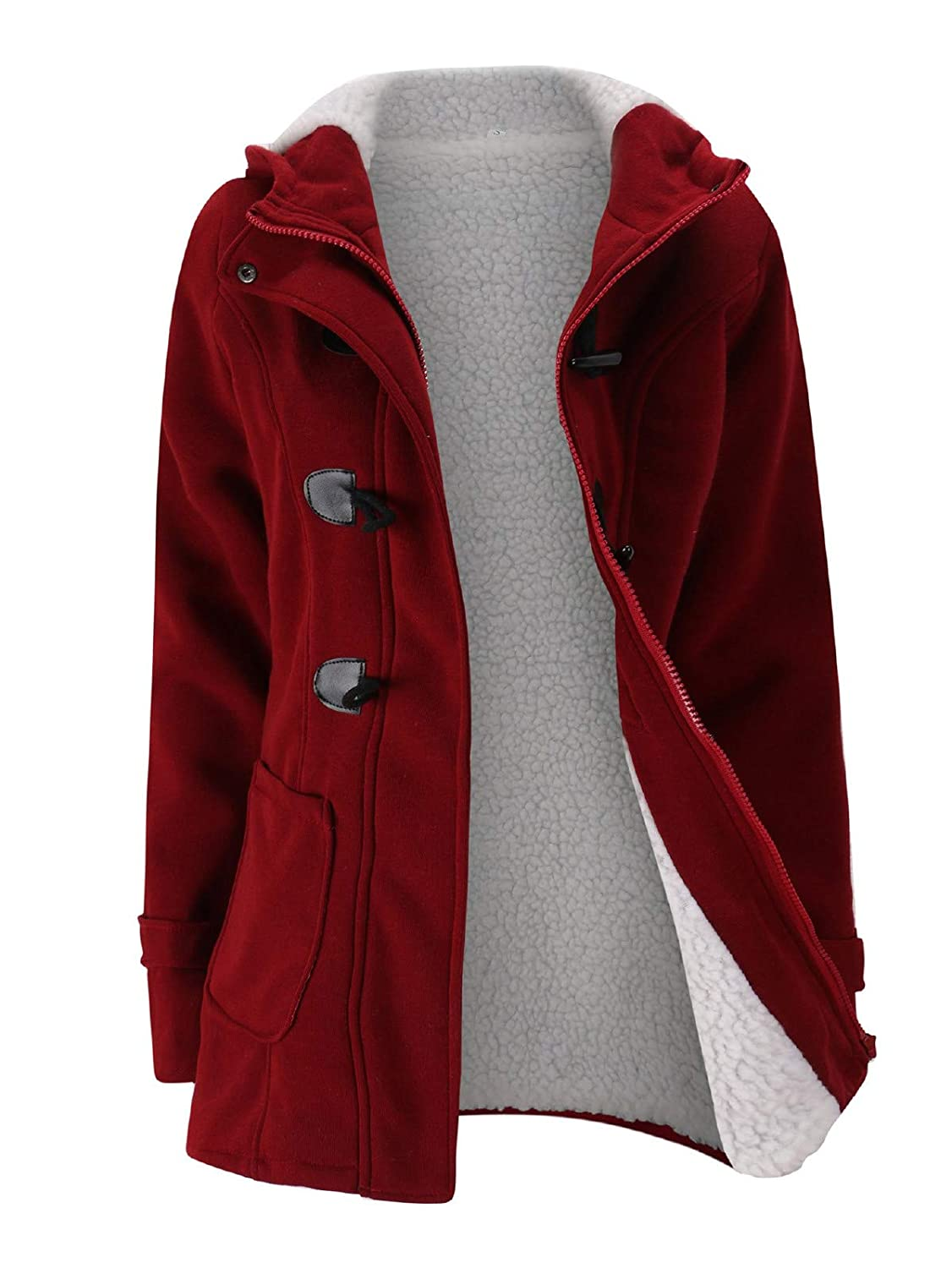 Verdusa Women's Slim Skinny Winter Warm Coat Hooded Jacket Outerwear