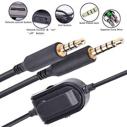 A10 A40 Replacement Cable Inline Mute Volume Control with Microphone for  Astro A10/A40/A30/A50 Headsets Cord Lead Compatible with Xbox One Play