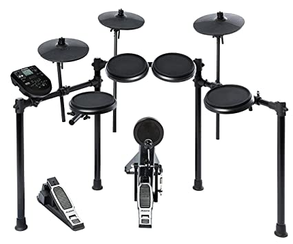 Amazon Com Alesis Nitro Kit Electronic Drum Set With 8 Snare 8