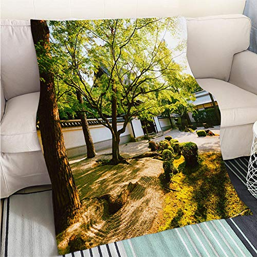 Kyoto King Bed - BEICICI Comforter Multicolor Bed or Couch Shrine in Kyoto in Beautiful Summer Sunset Fun Design All-Season Blanket Bed or Couch