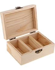F Fityle Wooden Aromatherapy Perfume Essential Oil Case Box, Assorted Size Bottle Storage Organizer/Container Natural Wood Holds 5-30ml Bottles - 3 Grids