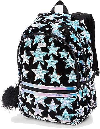 Amazon Com Justice Star Velvet Flip Sequin Backpack Kids