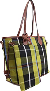 Linen Galaxy JM861 2-in-1 Ladies Women Large Shopper Bag & Clutch Girls Shoulder Totes Cross Body School Bags