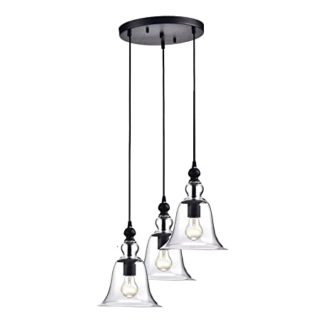 Edvivi 3 Light Antique Black Multi Lights Pendant Ceiling