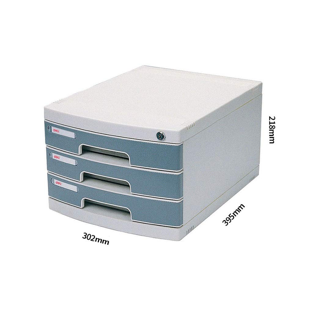 A4 Desktop File Cabinet Lockable Data Cabinet Drawer File Storage Cabinet File Box Office Supplies Portable and Tidy Storage Box-Plastic 30.239.521.8CM