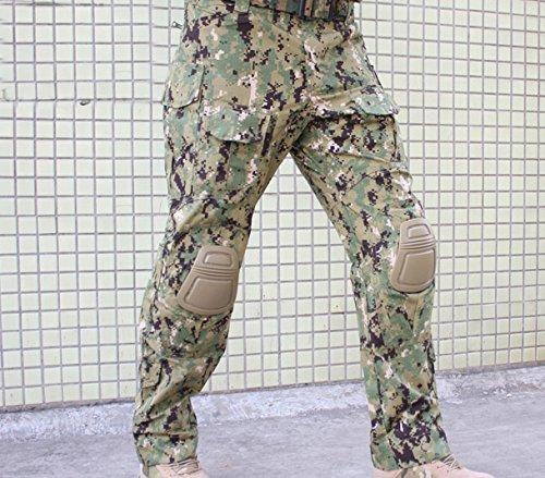 WorldShopping4U Tactical Army Military Shooting BDU Herren Gen3 G3 Combat Hose Hose mit Knie Pads für Airsoft Paintball Digital Woodland Aor2