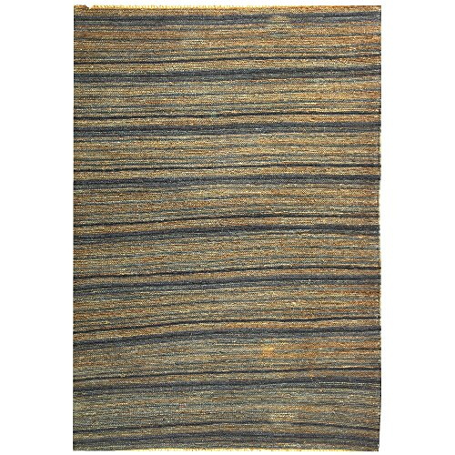 Safavieh Organica Collection ORG115A Hand-Knotted Blue Wool Area Rug (3' x 5') Fine Sisal Rug