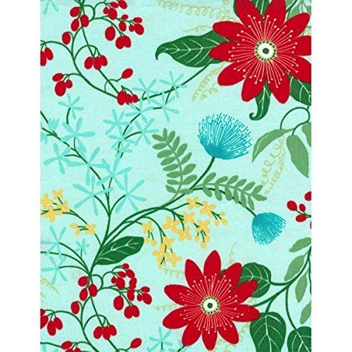 Timeless Treasures Fabrics Dominicana by Vanessa Vargas Wilson Aqua Large Floral (Aqua Floral Fabric)