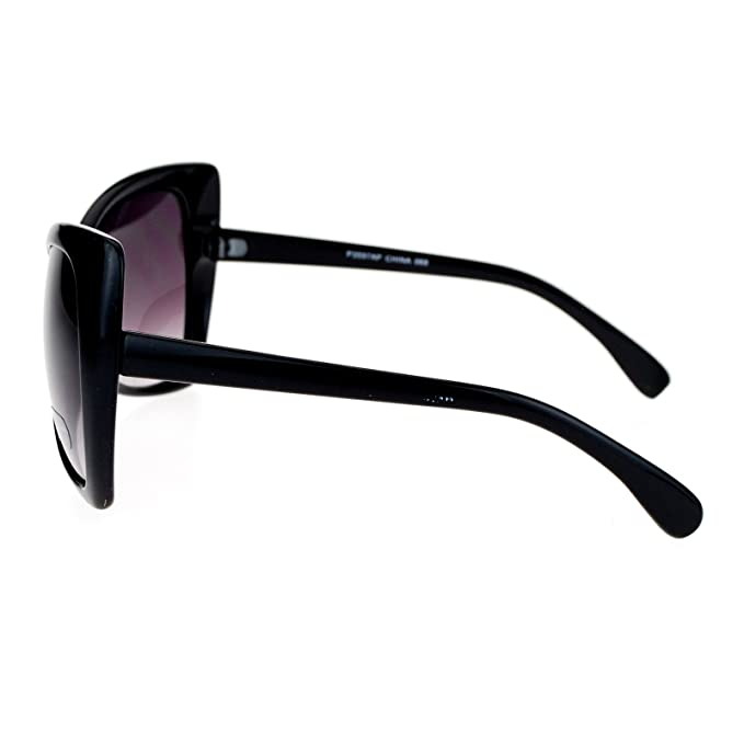 SA106 Unique Oversized Cat Eye Hybrid Butterfly Sunglasses