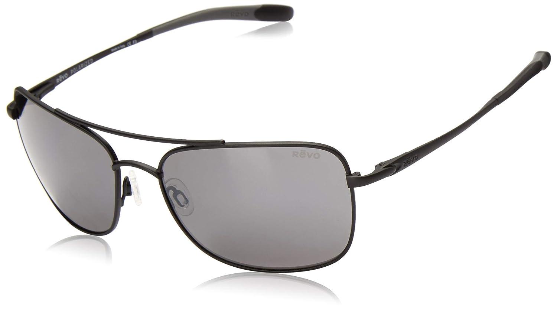 bc9d82dff6 Amazon.com  Revo Territory RE 1034 01 GY Polarized Aviator Sunglasses
