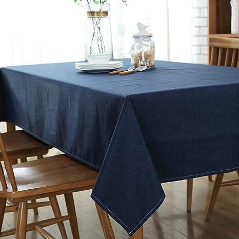 Topmail Mantel Para Mesa de Comedor de Algodón y Lino Diseño de Comedor  Decoración del Hogar Rectangular Impermeable Lavable Reutilizable ...