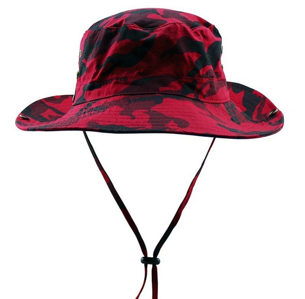 Butterme, cappello a tesa larga verde militare con sottogola, per pesca, escursionismo, campeggio, viaggi, alpinismo e attività all'aperto, protezione dai raggi UV alpinismo e attività all'aperto ZT00248R
