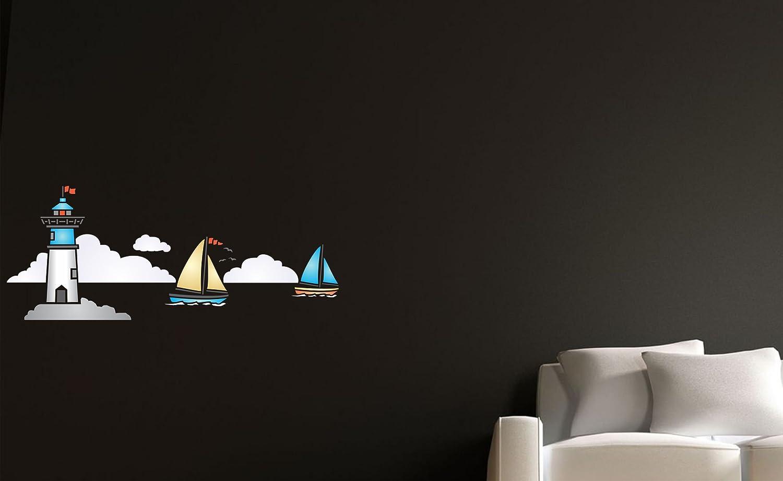 Nautique Phare Pochoir 18cm High Semi Transparent Pochoir Peinture Murs Fabrics Meuble Reutilisable Maison Nautique Decor Pochoir Peintures Outils Et Traitement Des Murs Pochoirs