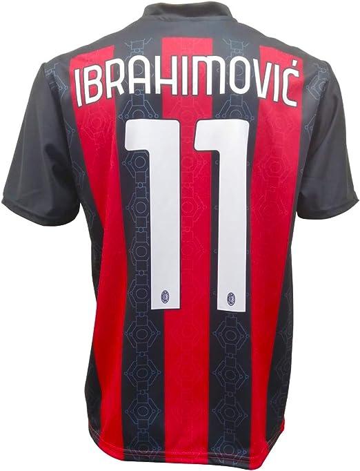 BrolloGroup Maglia Milan Ibrahimovic 21 Theo 19 Maglietta AC Milan ...
