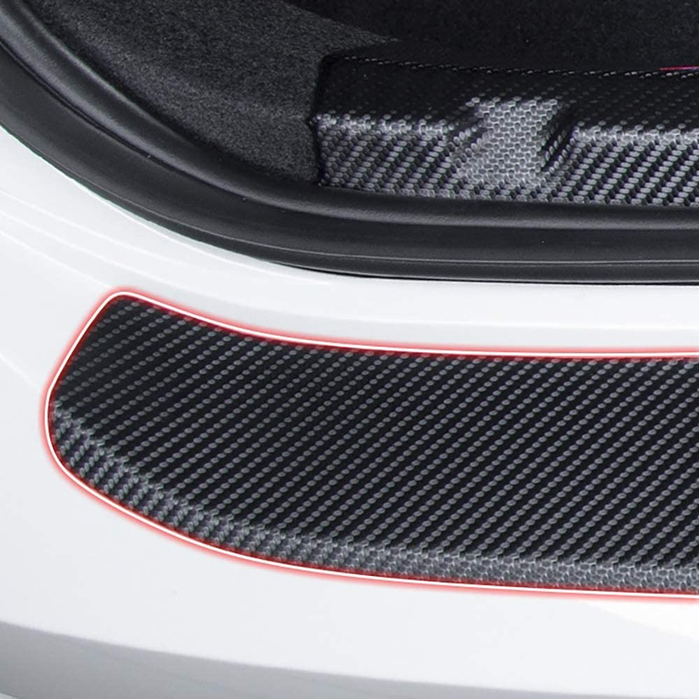 Kohlefaser Hecksto/ßStangenschutz f/ür Ford Fiesta Mondeo Fusion Escape Edge Ecosport Kuga Autos Anti-Kratz Aufkleber Streifenschutz Sto/ßStangenschutz Verhindern Sie Schmutz Vorhandene Kratzer