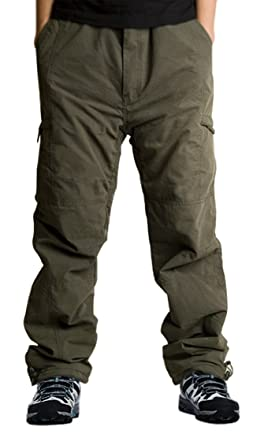 c579f1734a3 Exeke Men s Relaxed-Fit Cargo Pants Thermal Ski Pants Lined Dungarees Winter  Outdoor Tactical Pant