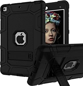 iPad Mini 5 Case, iPad Mini 4 Case, Hybrid Three Layer Armor Shockproof Rugged Drop Protection Cover Case Built with Kickstand for iPad Mini 4/5 7.9 Inch