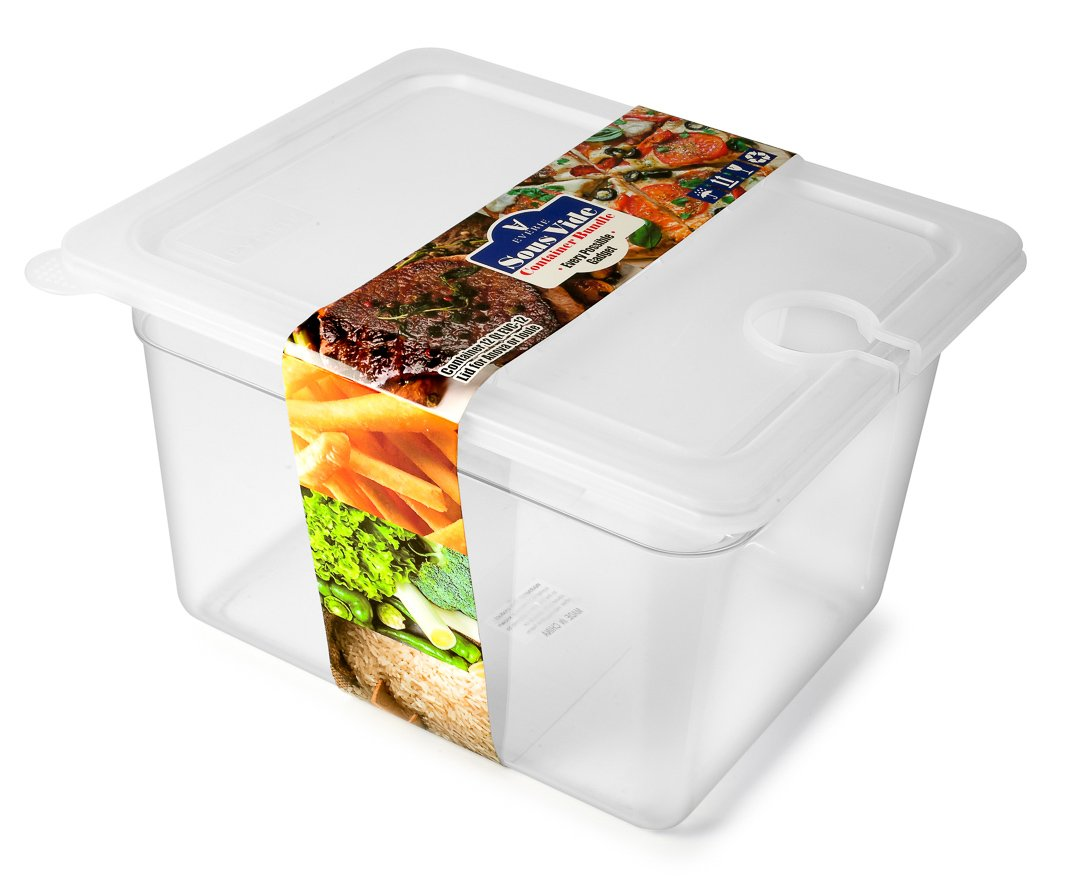 EVERIE Sous Vide Container 12 Quart with Collapsible Hinged Lid for Chefsteps Joule Sous Vide Immersion Circulator Cooker (Side Mount)