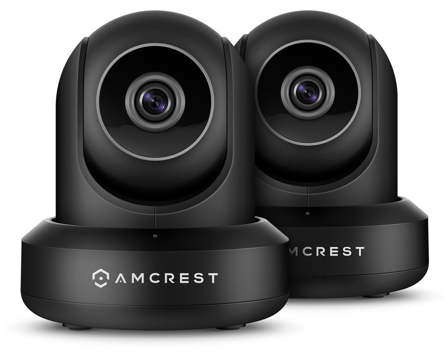 Amcrest 2-Pack 1080p WiFi Camera Indoor, 2MP Pan/Tilt Home Security Camera, Auto-Tracking, Motion & Audio Detection, Enhanced Browser Compatibility, H.265, Two-Way Talk 2PACK-IP2M-841B-V3 (Black)