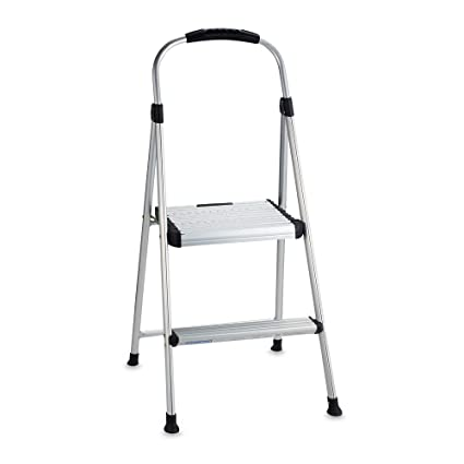 Superb Cosco Signature Two Step Aluminum Step Stool Customarchery Wood Chair Design Ideas Customarcherynet