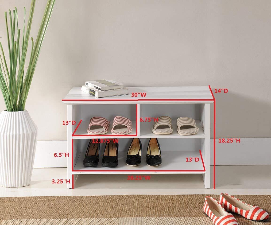 Amazoncom Kings Brand Furniture Wood Shoe Storage Cubby Bench