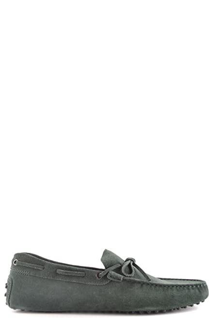Men's MCBI293133O Green Suede Loafers