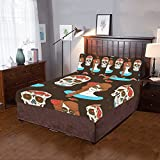 Happy More Custom Mexican Skull And Girl Duvet Cover Sets 3-Pieces Bedding Set