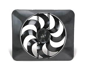 """Flex-a-lite 18024 Black 15"""" 24V Magic X-treme Reversible Electric Fan"""