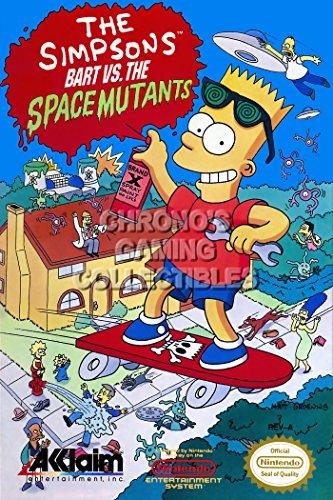 CGC Huge Poster - The Simpsons Bart Vs The Space Mutants Orignal Nintendo NES Box Art - NES110 (24