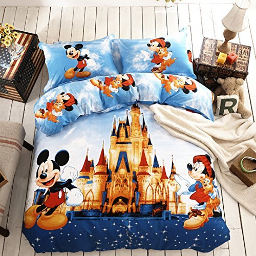 Disney Mickey and Minnie Mouse Bedding Set (Queen) (Bedding Sets Mickey Mouse Queen)