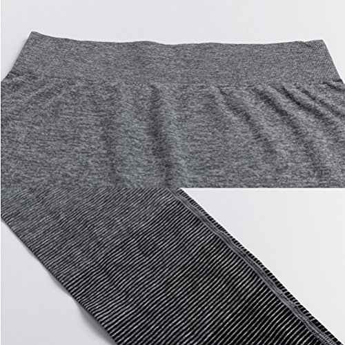 Zhhlinyuan Women's Comfortable Tight Yoga Pants Sports Stretch Gradient color Pants Blue