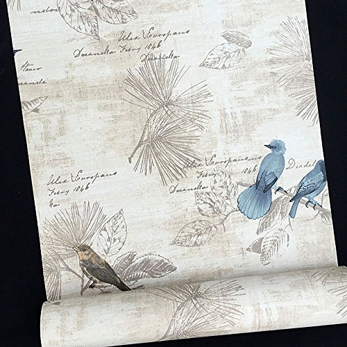 Review SimpleLife4U Blue Birds Contact Paper Handwriting Pattern Self-Adhesive Shelf Liner By SimpleLife4U by SimpleLife4U