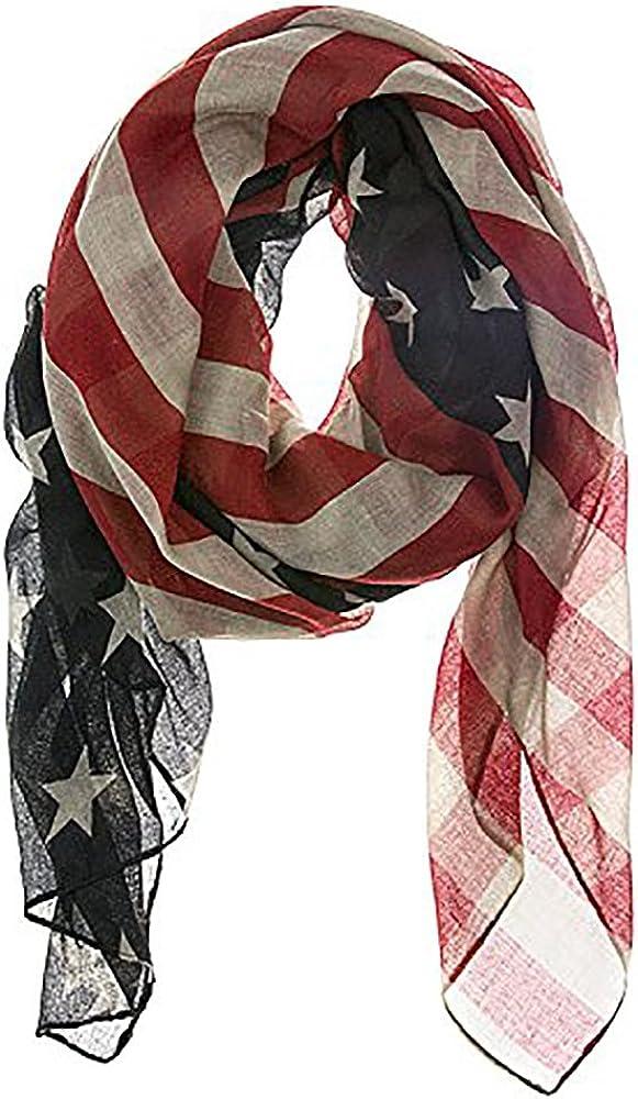 LRRH Vintage American Flag Scarf: Clothing