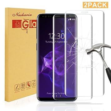 Nasharia  2 Pièces  Galaxy S9 Plus Protecteur d écran en Verre, G ... b95ed48f16d6