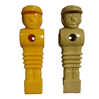 Suzo Happ Set - 1 Yellow & 1 Tan Imperial Replacement Foosball Men : Foosball Accessories : Sports & Outdoors
