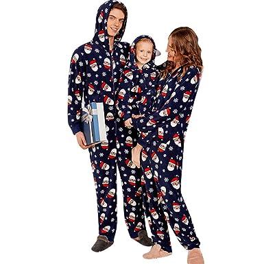 8e6d46be7b Family Christmas Pajamas Set Christmas Santa Claus Print Winter Navy PJ Sets   Amazon.co.uk  Clothing