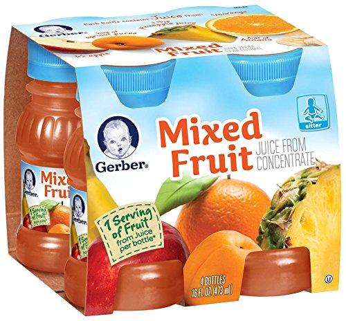 Gerber Juice - Mixed Fruit - 4 fl oz - 4 pk